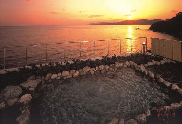 夕陽がキレイな展望露天風呂