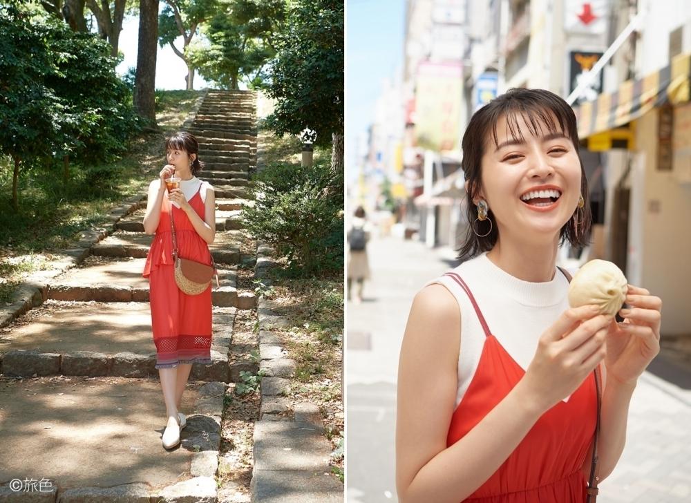 スタイル2:大阪の街に映えるビビットカラーのカジュアルスタイル