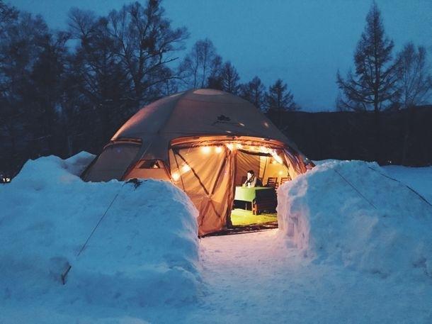 「のりくら 雪と氷のEVスナック」で旅のついでにグランピング体験