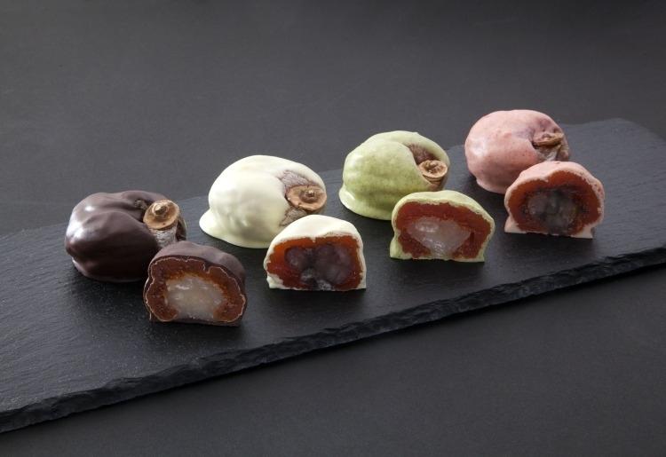 市田柿と煮豆をチョコでコーティング「心音 -shinon-(8個入り)」