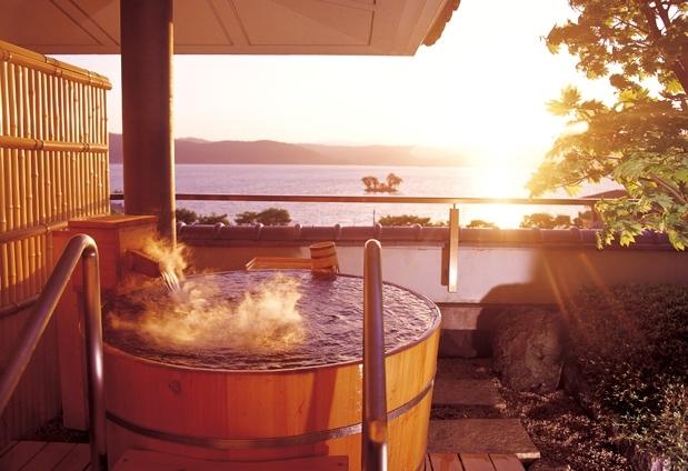 上諏訪温泉「ホテル鷺乃湯」の魅力④展望露天風呂付き客室