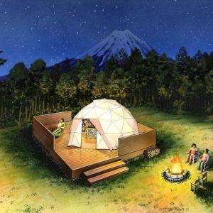 スタイリッシュなドームテントも登場。「PICA Fujiyama」2018年7月オープン