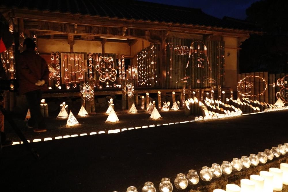 京都じゃないよ。福岡県にある清水寺で幻想的な竹灯籠イベント開催その2