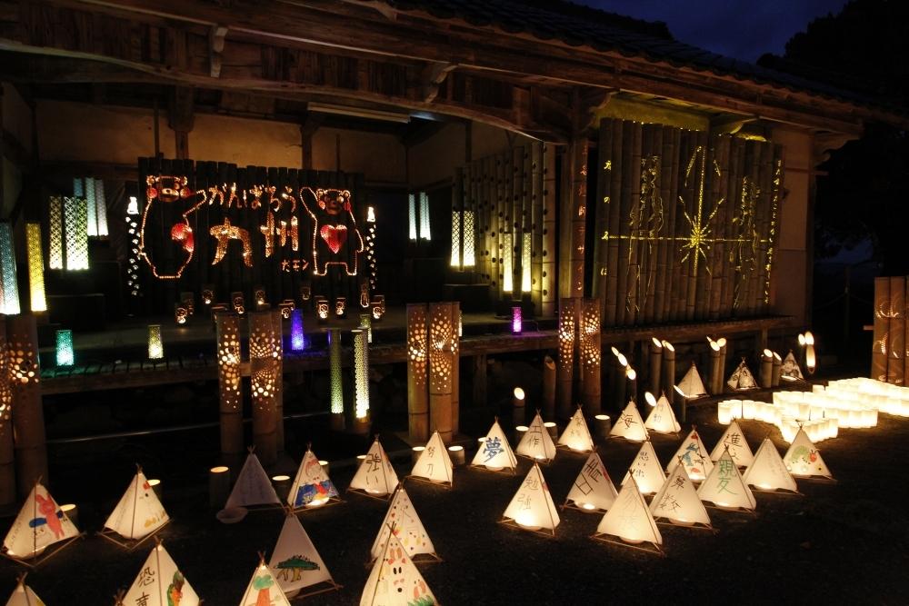 京都じゃないよ。福岡県にある清水寺で幻想的な竹灯籠イベント開催その3