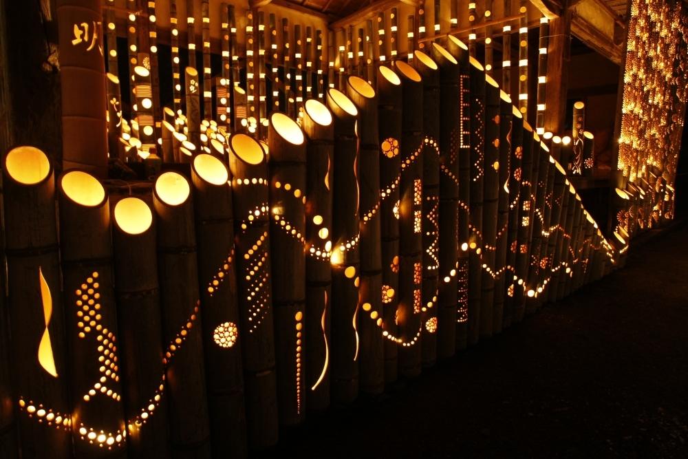 京都じゃないよ。福岡県にある清水寺で幻想的な竹灯籠イベント開催その4