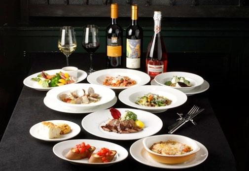 旬の食材とワインを楽しめるお得なコースメニュー