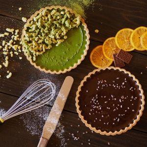 伊勢抹茶・濃厚チョコ 2種の本格焼きチーズタルト!3つのカフェで期間限定提供