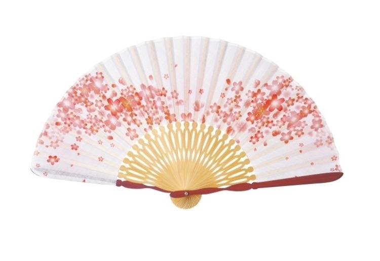 職人の繊細な技術で作られた、上品な扇子「花ざかり(ピンク)」