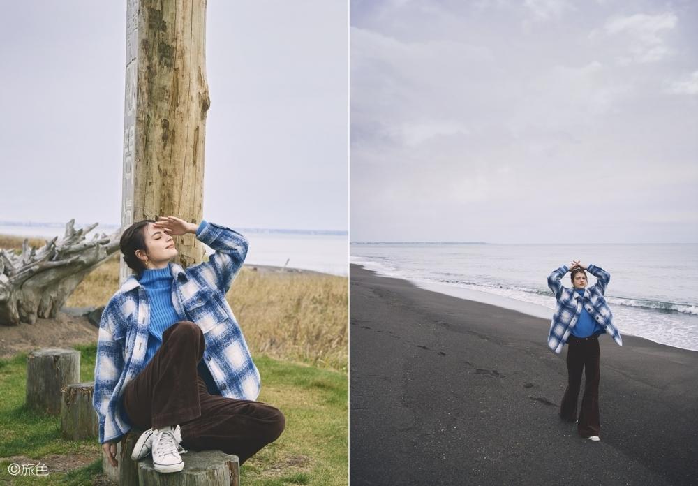 スタイル1:北海道の海に馴染むチェック×コーデュロイのカントリースタイル