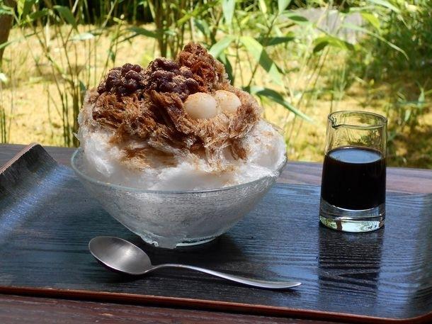 至極美味・高級食材といわれる丹波大納言小豆を使ったかき氷/中島大祥堂丹波本店