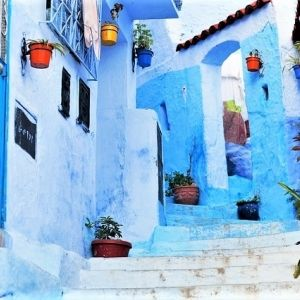 """すべてがブルーに染まった街。""""青""""の絶景「シャウエン」の魅力その0"""