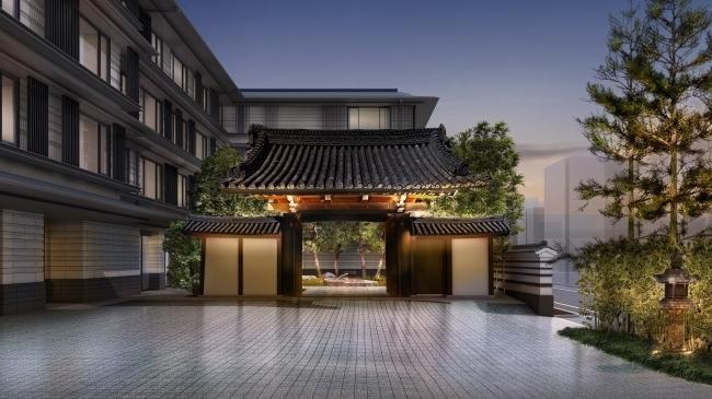 300年以上の歴史を持つ「梶井宮門」がエントランス