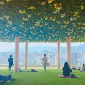 広島のランドマーク「おりづるタワー」が春仕様に!街中ピクニックを楽しめるイベント開催