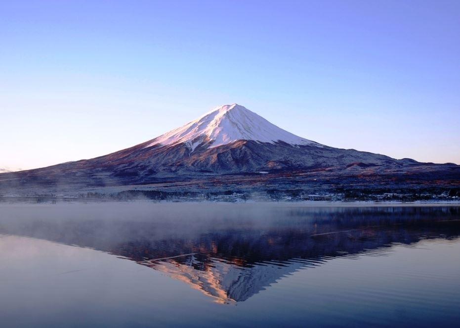 富士山と河口湖を望める、絶好のロケーション