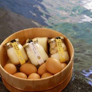 温泉卵を載せた温玉プリンも!湯田中温泉に初のプリン専門店オープン