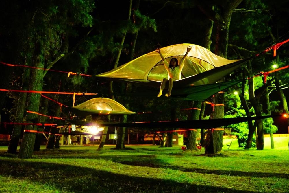 日本初!空中テント泊のみの施設が登場 アクティビティ体験も用意その2