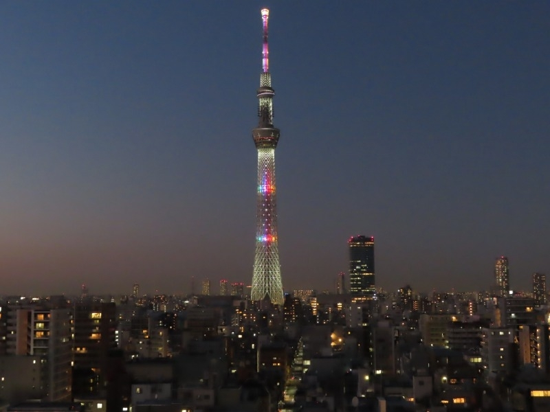 【2】アルカキット錦糸町の屋上広場から望む東京スカイツリー(R)/墨田区