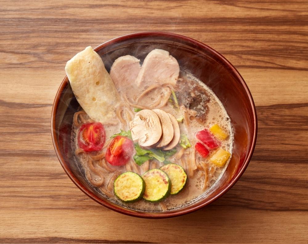 ラーメンに恋をするポイント②▶本店で幻となったキノコのベジ白湯ソバの復活