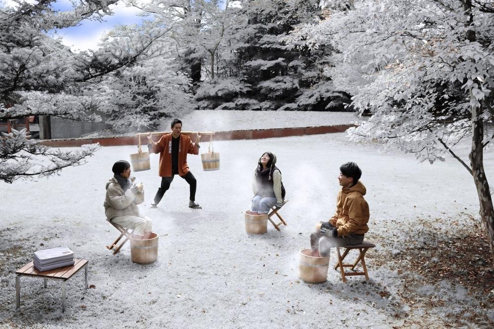 【軽井沢星野エリア】足湯とホットドリンクでほっこりリラックスタイム