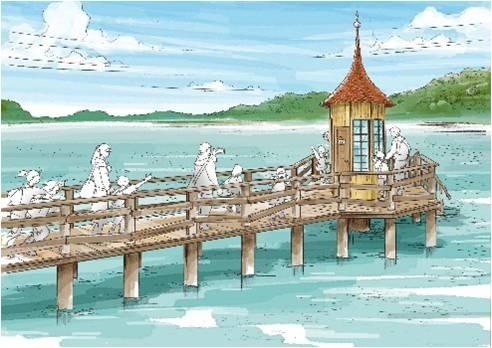 そのほか水浴び小屋、灯台などのフォトスポットも