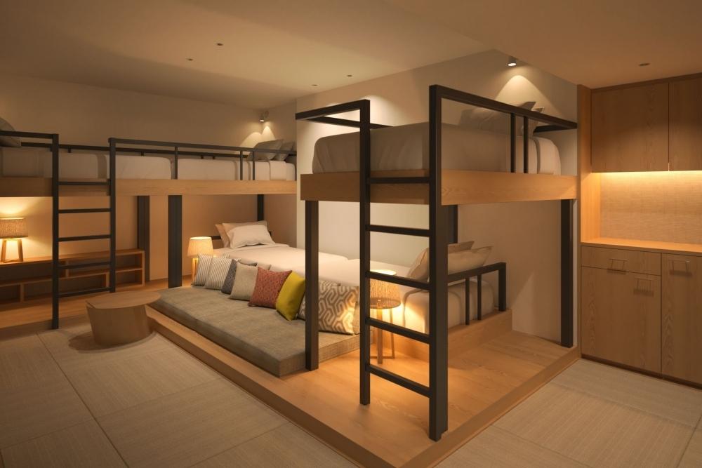 憧れの2段ベッド+リビングルーム