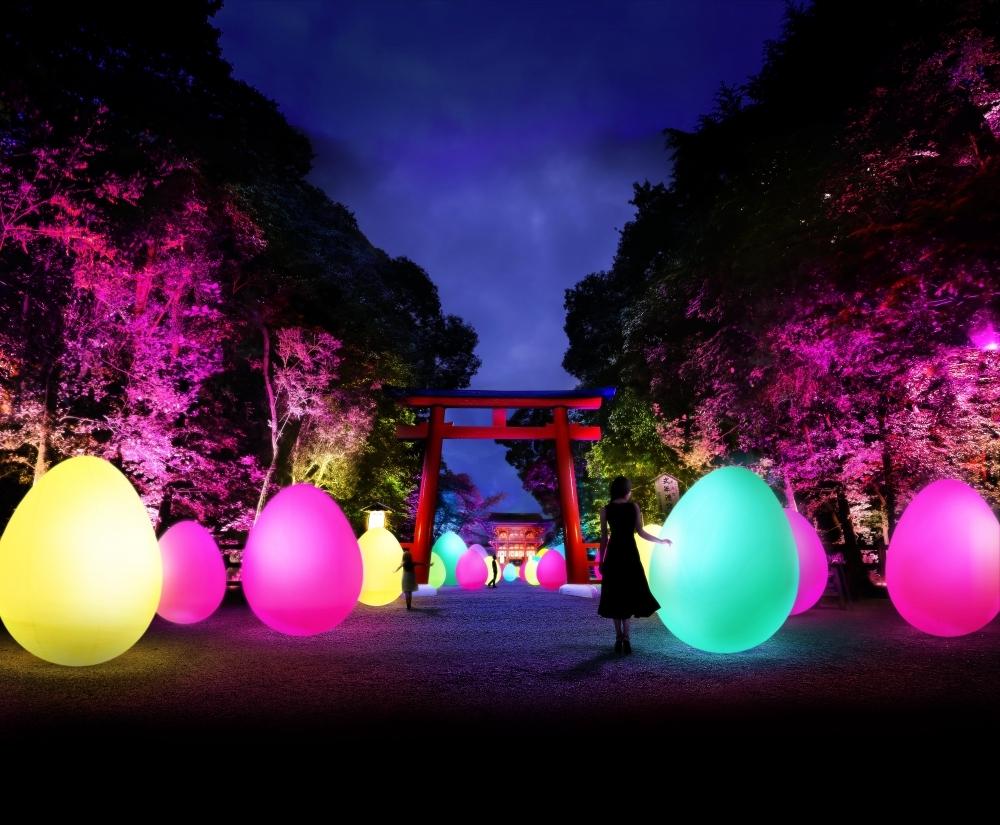 チームラボによる「下鴨神社」のイベントが今年も開催。世界遺産でアートを体感その1