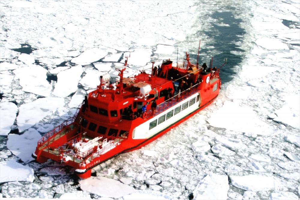 北海道観光の風物詩・流氷観光船