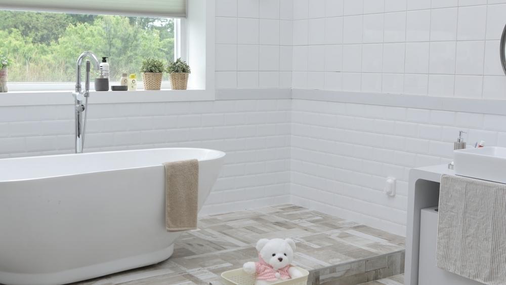 宿泊先での乾燥対策②バスタブにお湯を張ってドアを少し開けておく