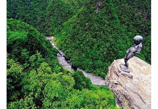 小豆島と名所を巡る4泊5日の旅プラン最終日:「祖谷渓の小便小僧像」観光
