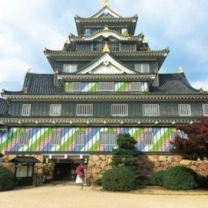 岡山城がポップにデコレーション!?おかやまハレいろキャンペーン