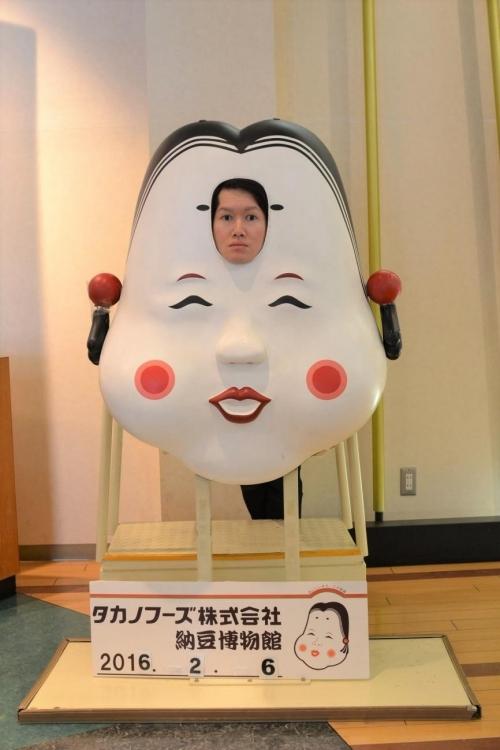 情熱感じる立体的なおかめ。タカノフーズ納豆博物館<茨城>