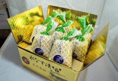 漬物の概念が変わる!?「水なすの浅漬(ぬか漬)金箱8個包装入」