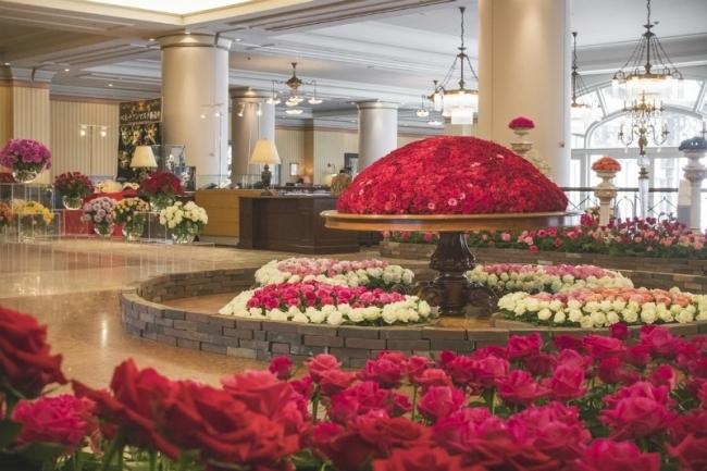 翌朝もバラの香りに包まれる! 薔薇のホテル