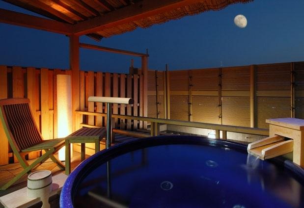 道後温泉(愛媛県)の露天風呂付き客室④道後プリンスホテル