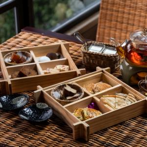 【台湾情報】台湾らしい點心が並ぶ午後茶と白硫泉の個室風呂。北投で過ごす、癒しのひととき。