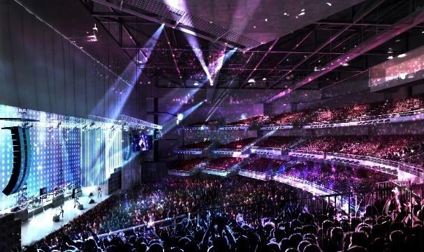 8,000人収容のホールでは迫力のライブが! 2021年には劇団四季のライオンキングの公演も