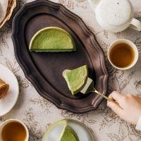 究極のなめらかさ。ふわとろ、ほろにが「八女抹茶カスタードケーキ」