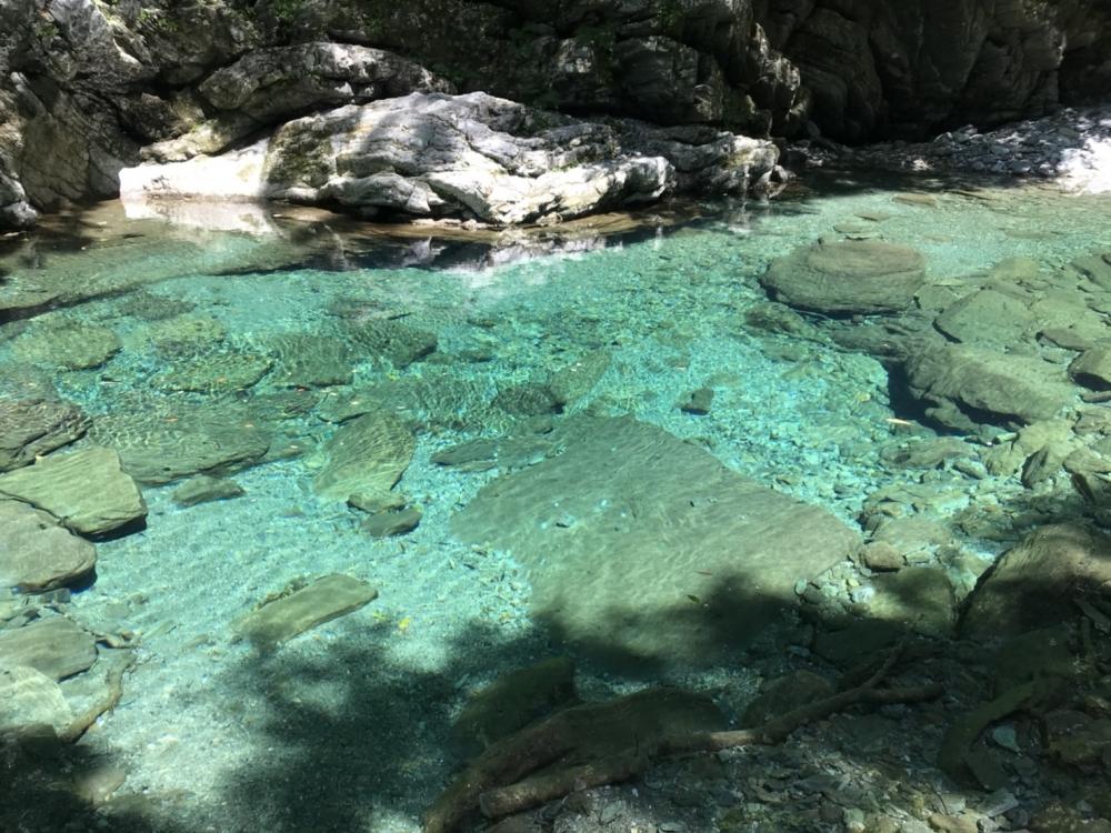 コバルトブルーの水面、くっきりと見える川底……これぞ仁淀川