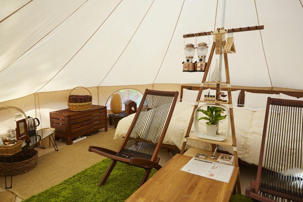 農園リゾートに昨年誕生したグランピング施設「THE FARM CAMP」