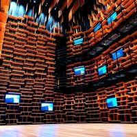 図書、美術、博物が融合した角川武蔵野ミュージアムで隈研吾展が開催中