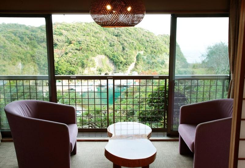 景勝地を望む絶景客室