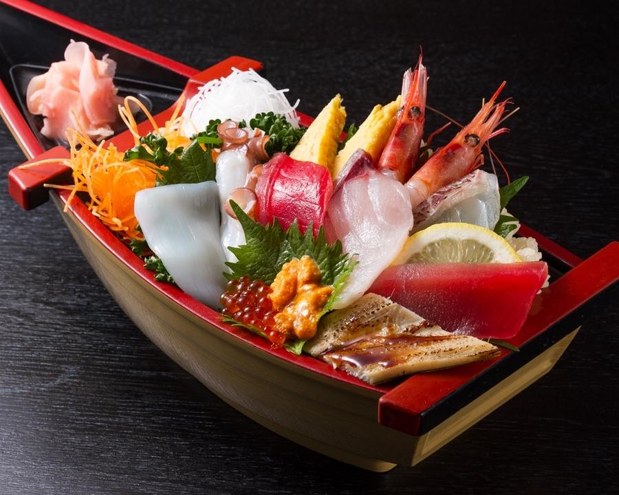 料理で使う魚介は伊東港から直送されるもの