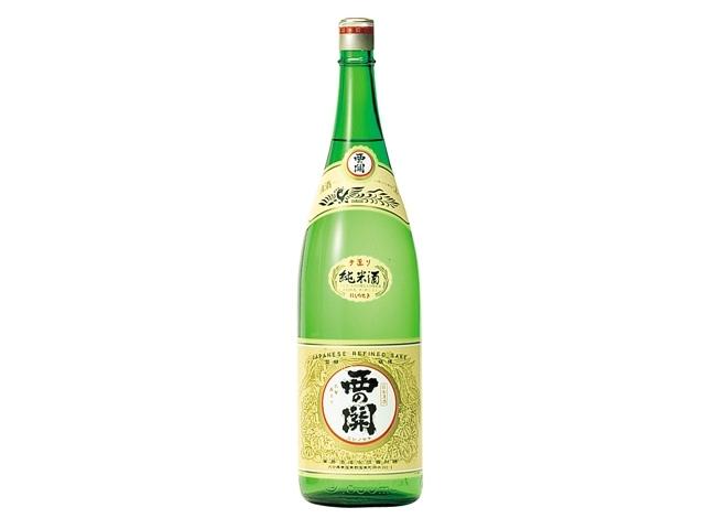 お酒はコレがおすすめ!/西の関 手造り純米酒 1800ml