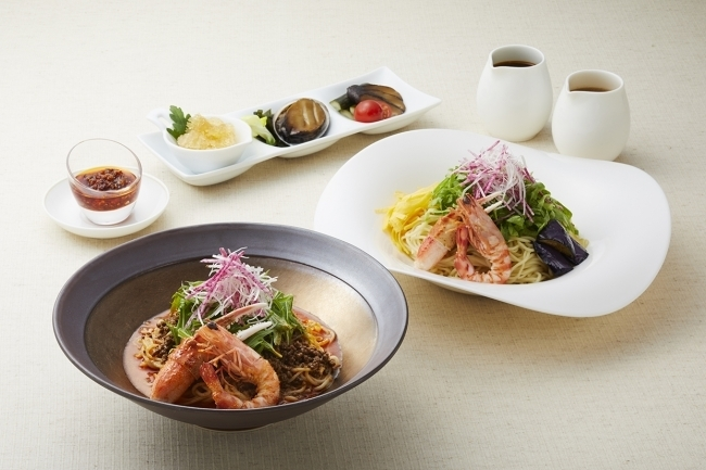 五目冷やし麺、冷やし担々麺/ロイヤルパークホテル