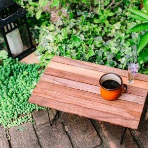 【おうち時間でキャンプDIY】すのこで作る折りたたみ式ミニテーブル