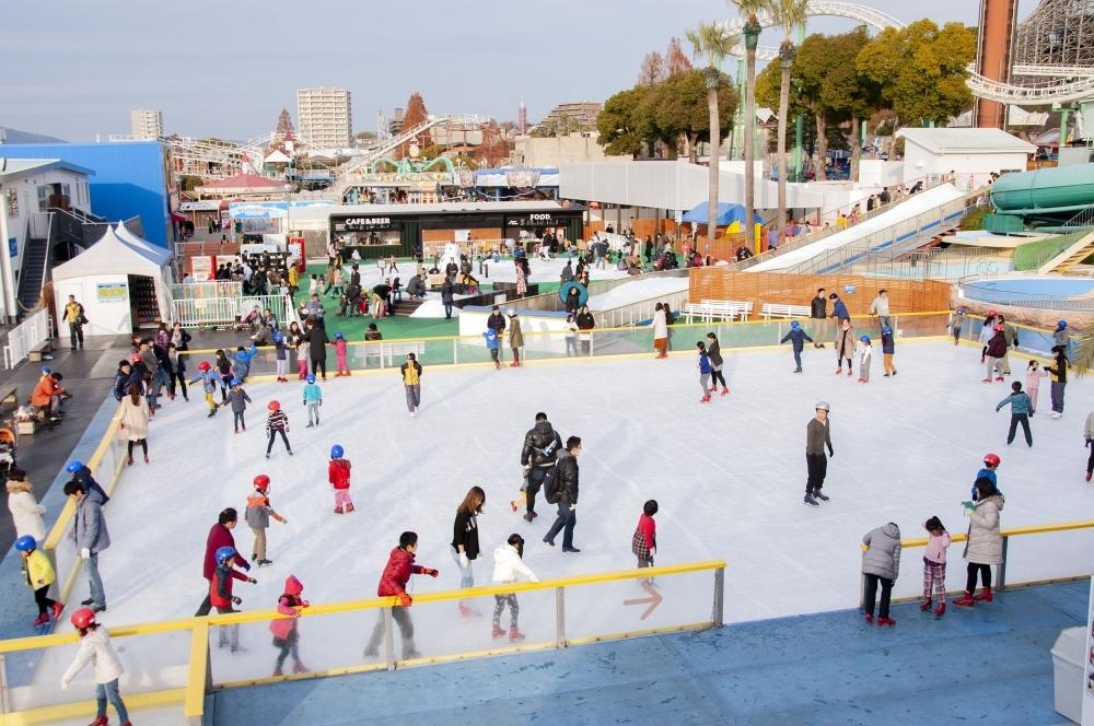 スケート初心者も安心な「スケートエリア」