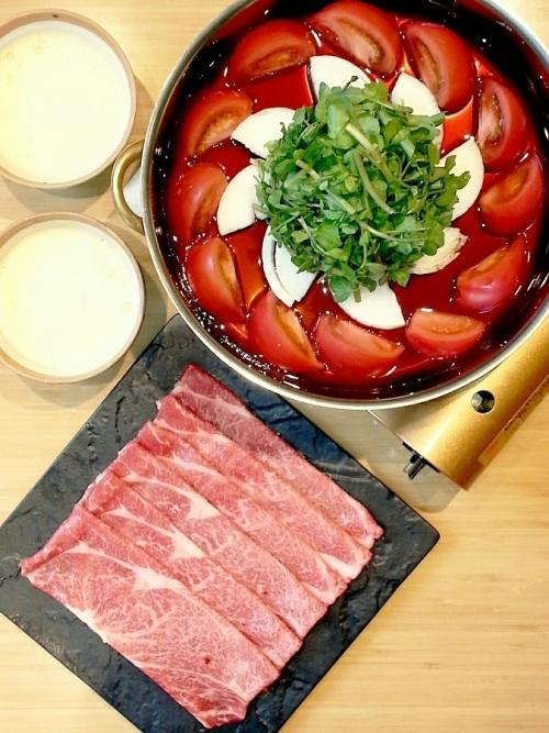 ヘルシー&ビューティーメニュー④トマト牛すき焼き