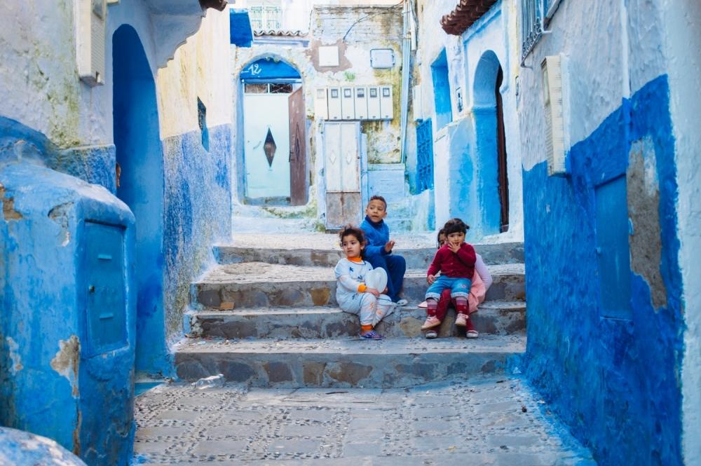 青の世界が広がる街 シャウエン(モロッコ)