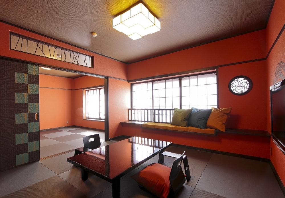 客室8室すべてが異なる優美なインテリア