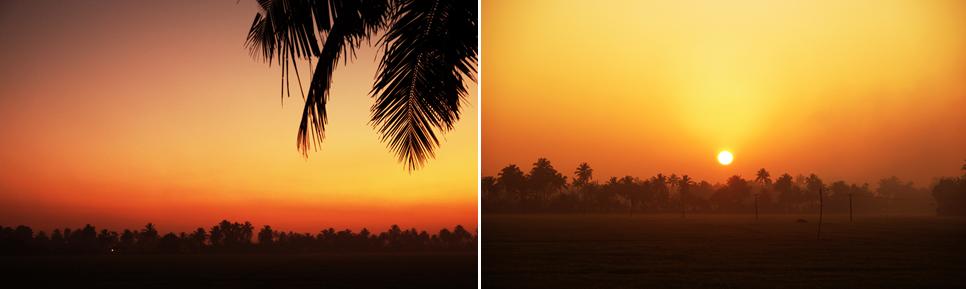 朝焼けにも乞うご期待。圧倒的な太陽を迎える